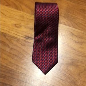 Nautica silk red and blue Diamond print men's tie